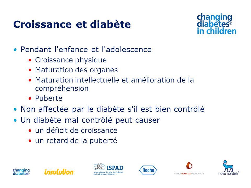 Croissance et diabète Pendant l enfance et l adolescence
