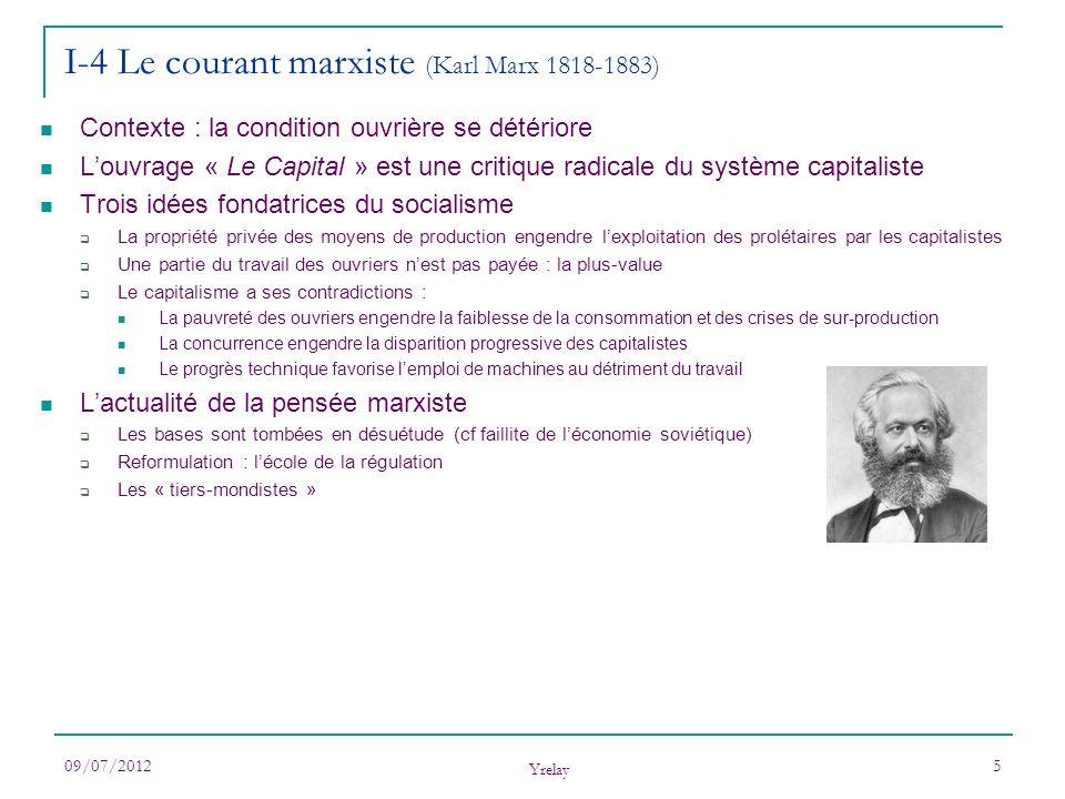 I-4 Le courant marxiste (Karl Marx 1818-1883)