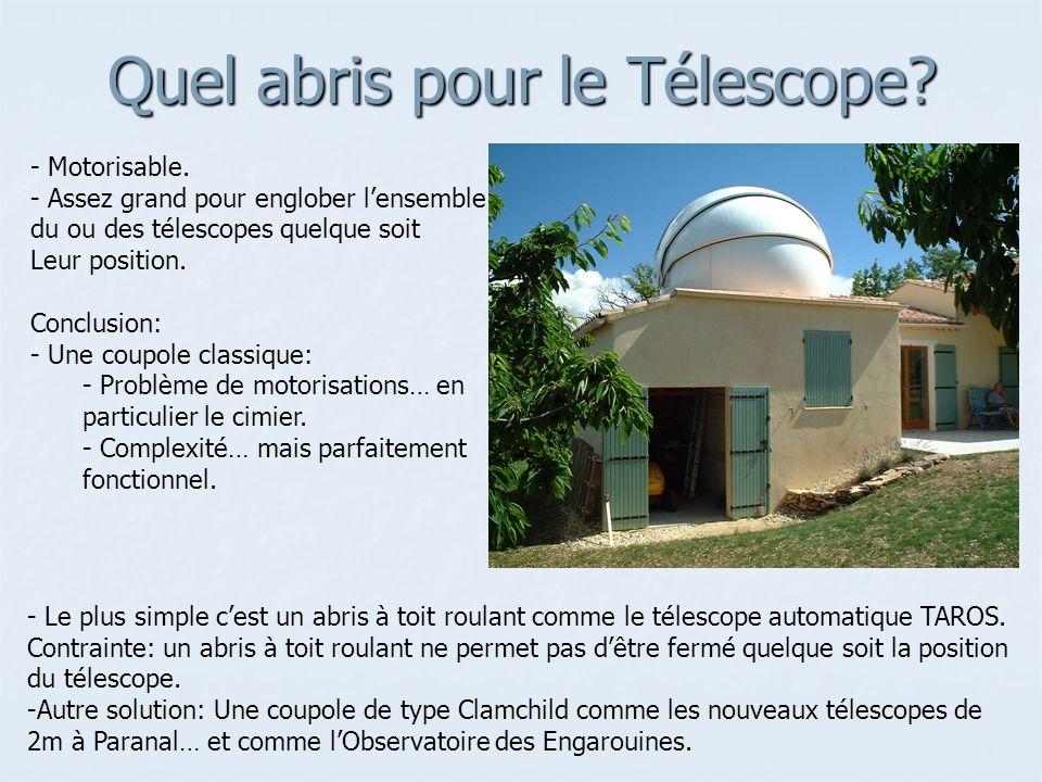 Quel abris pour le Télescope