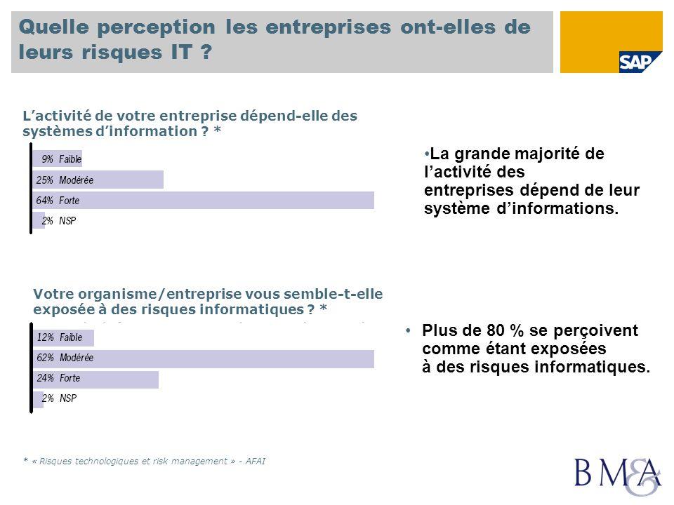 Quelle perception les entreprises ont-elles de leurs risques IT