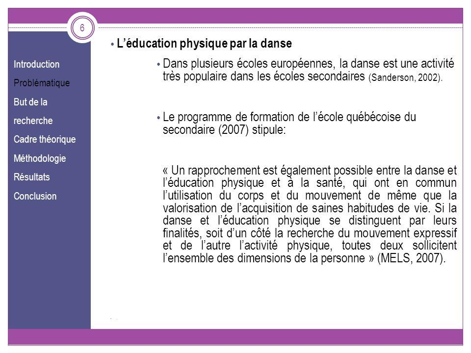 L'éducation physique par la danse