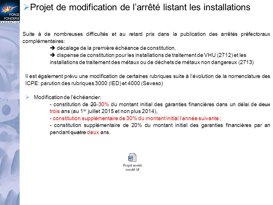 Actualit s environnement ppt t l charger for Nomenclature icpe garage automobile
