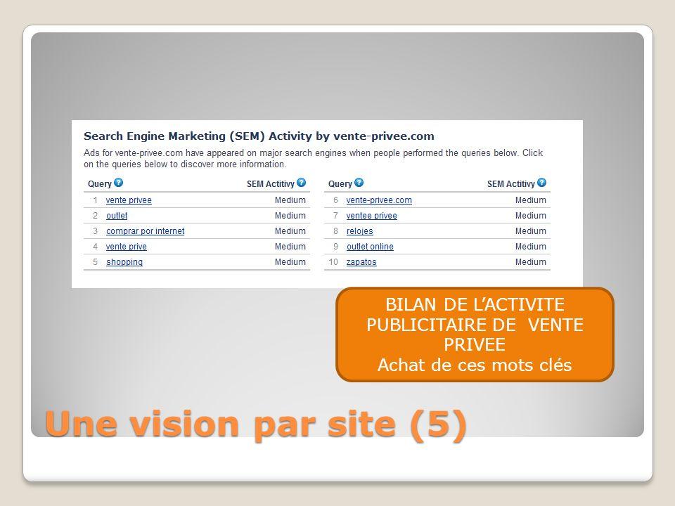BILAN DE L'ACTIVITE PUBLICITAIRE DE VENTE PRIVEE