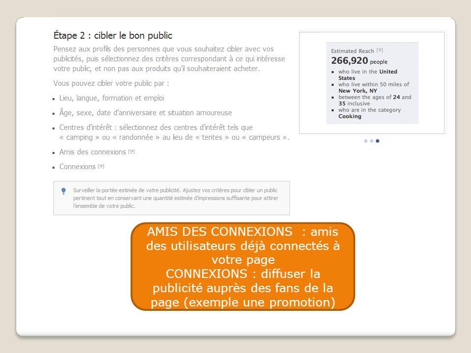 AMIS DES CONNEXIONS : amis des utilisateurs déjà connectés à votre page