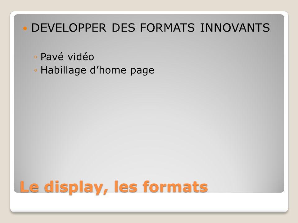Le display, les formats DEVELOPPER DES FORMATS INNOVANTS Pavé vidéo