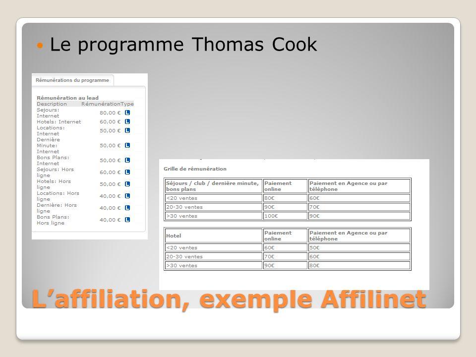 L'affiliation, exemple Affilinet