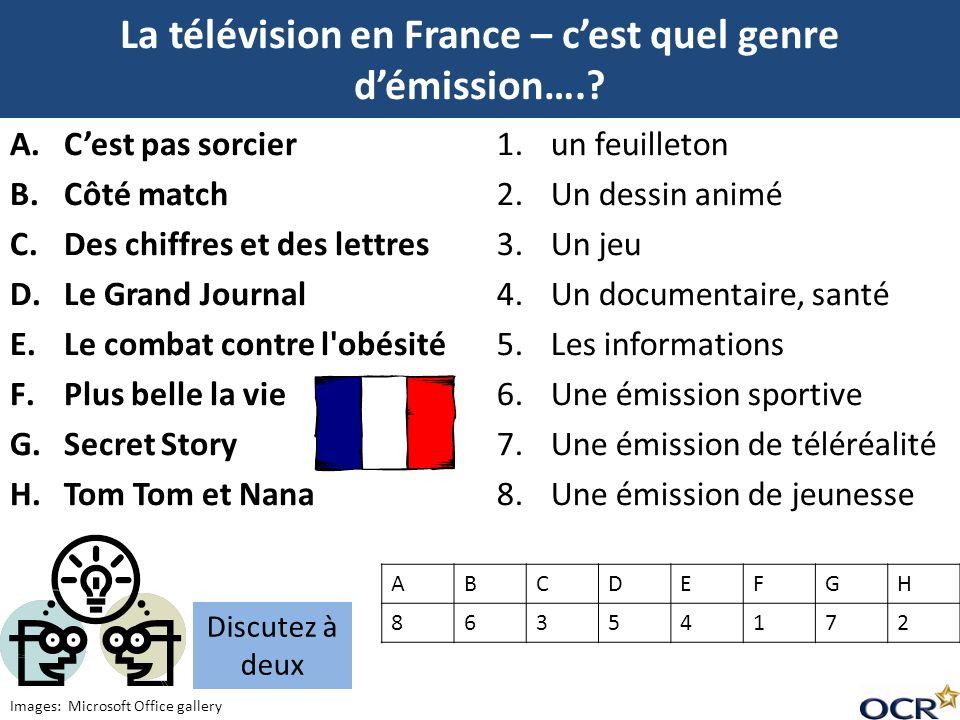 La télévision en France – c'est quel genre d'émission….