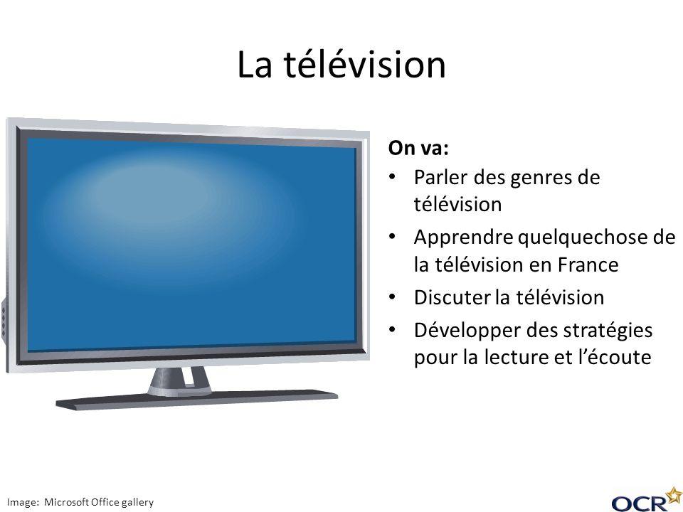 La télévision On va: Parler des genres de télévision
