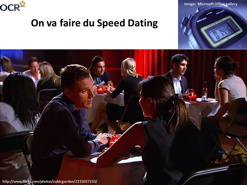 On va faire du Speed Dating