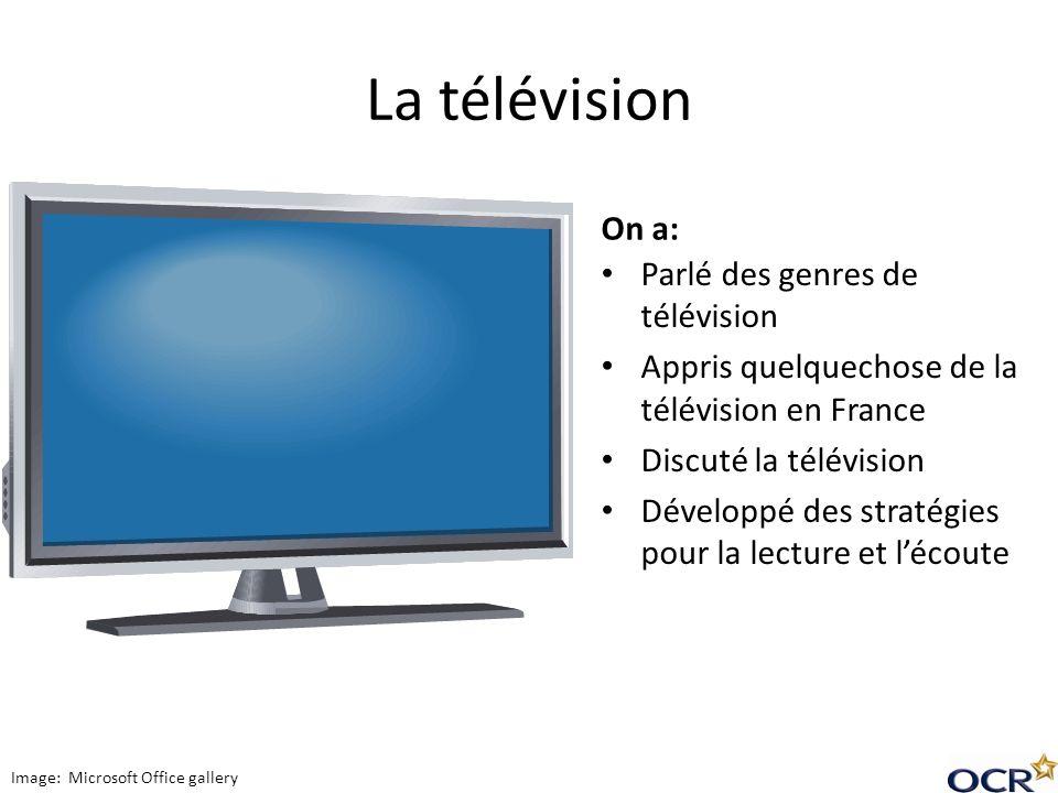 La télévision On a: Parlé des genres de télévision