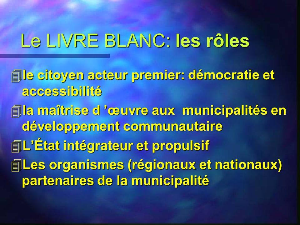 Le LIVRE BLANC: les rôles