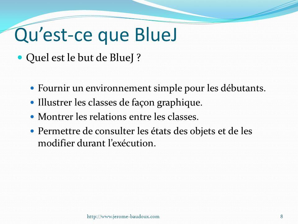 Qu'est-ce que BlueJ Quel est le but de BlueJ