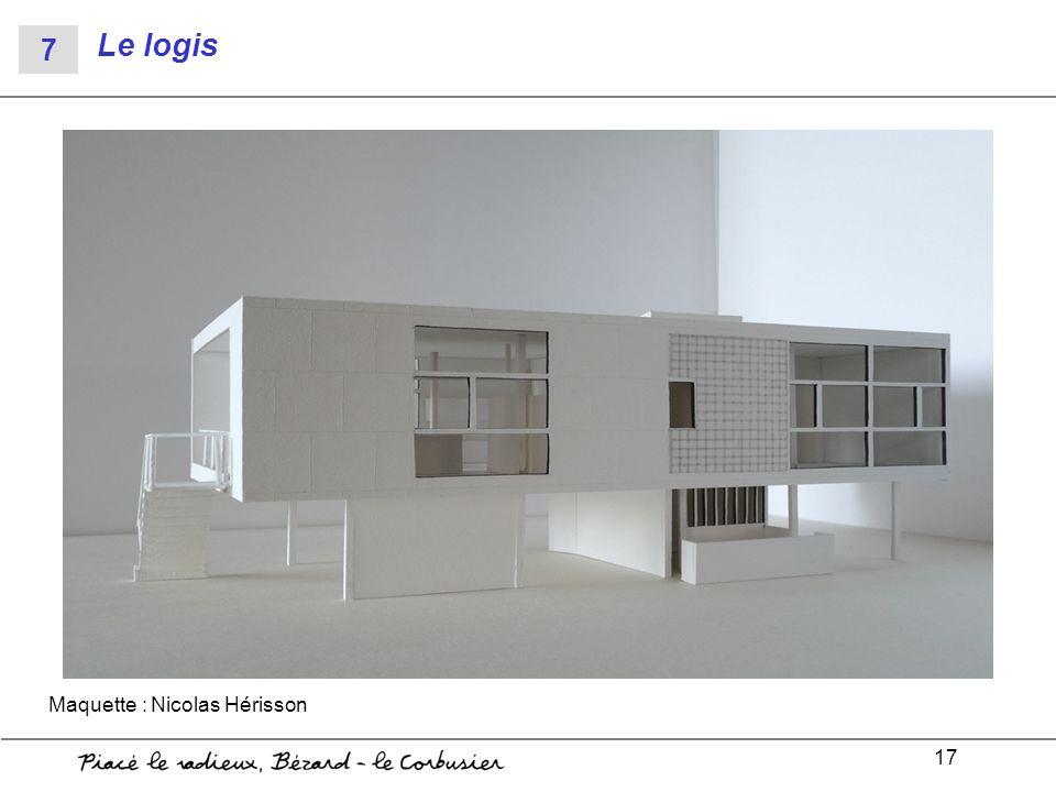 Le logis 7 Maquette : Nicolas Hérisson