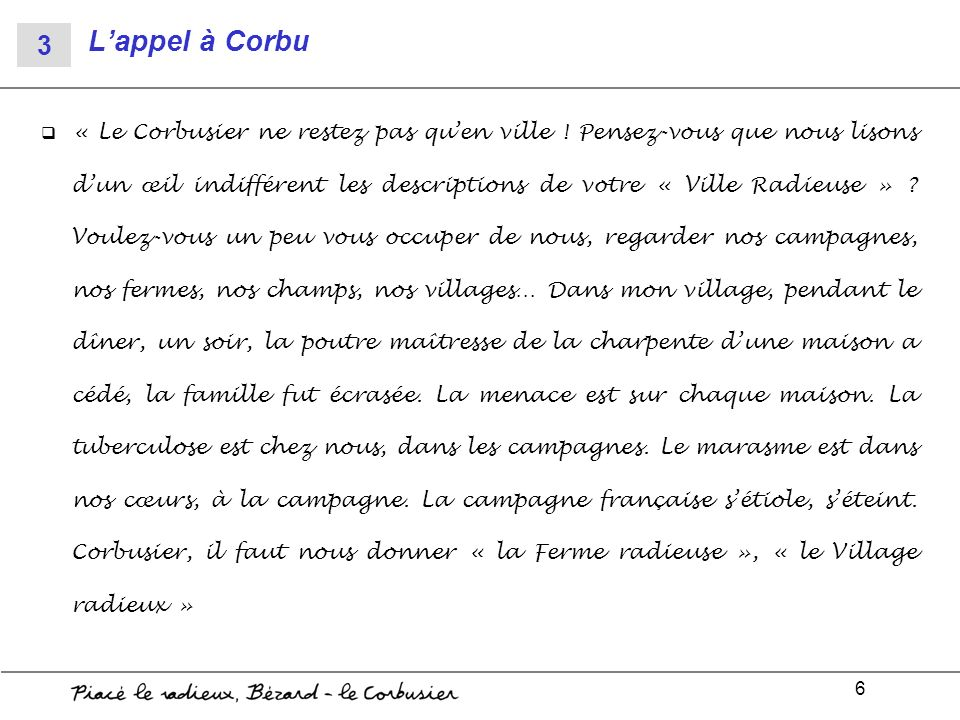 L'appel à Corbu 3.