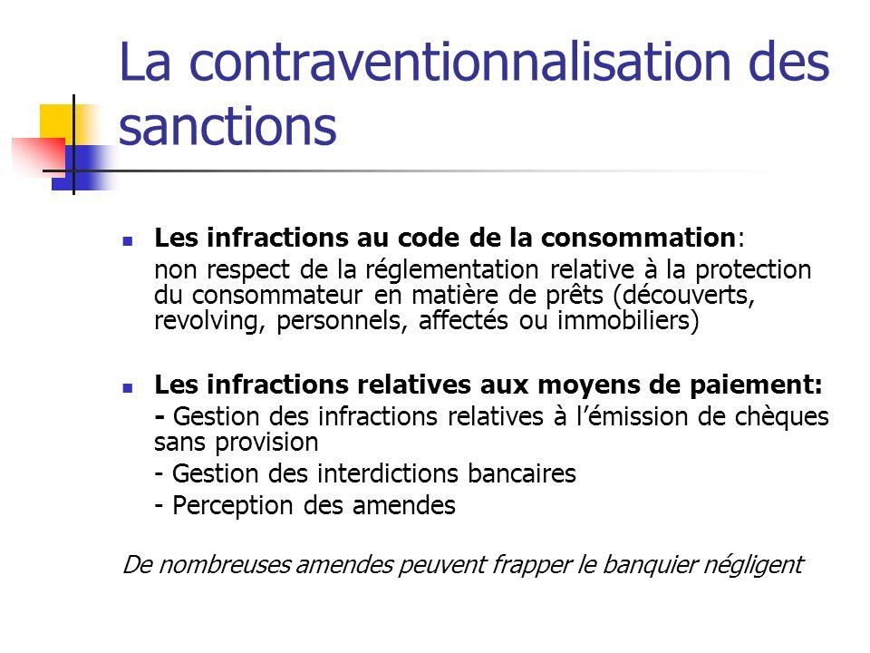 La contraventionnalisation des sanctions