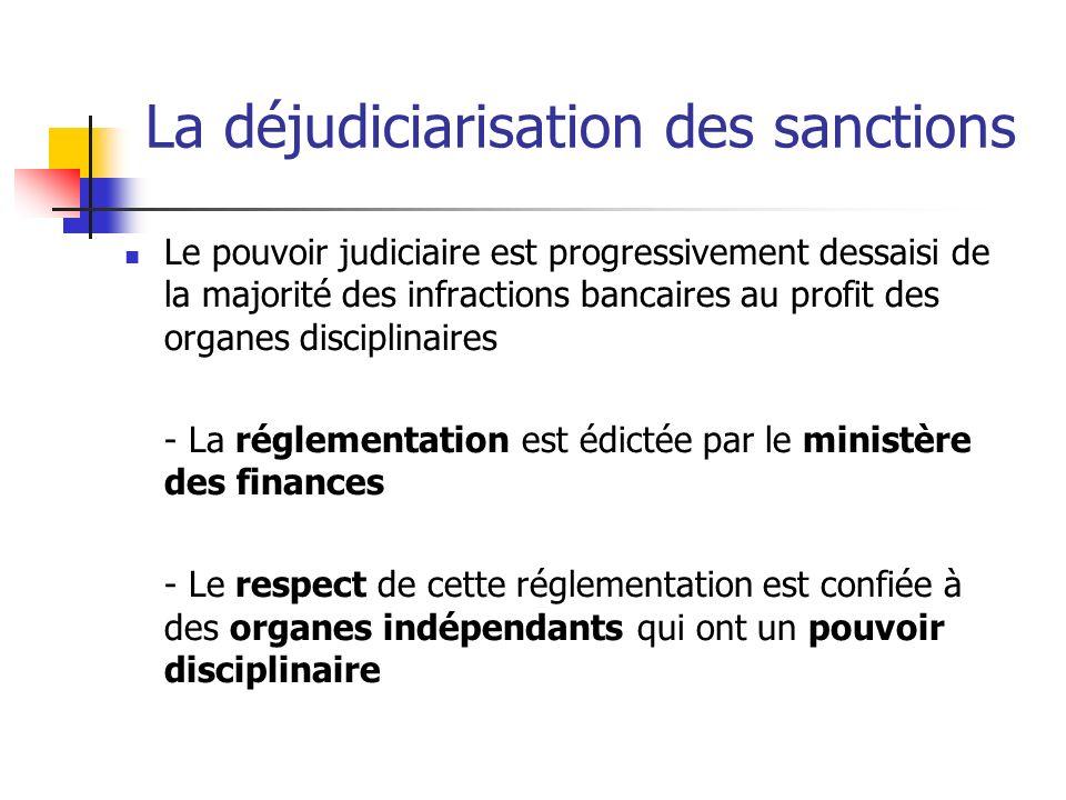 La déjudiciarisation des sanctions