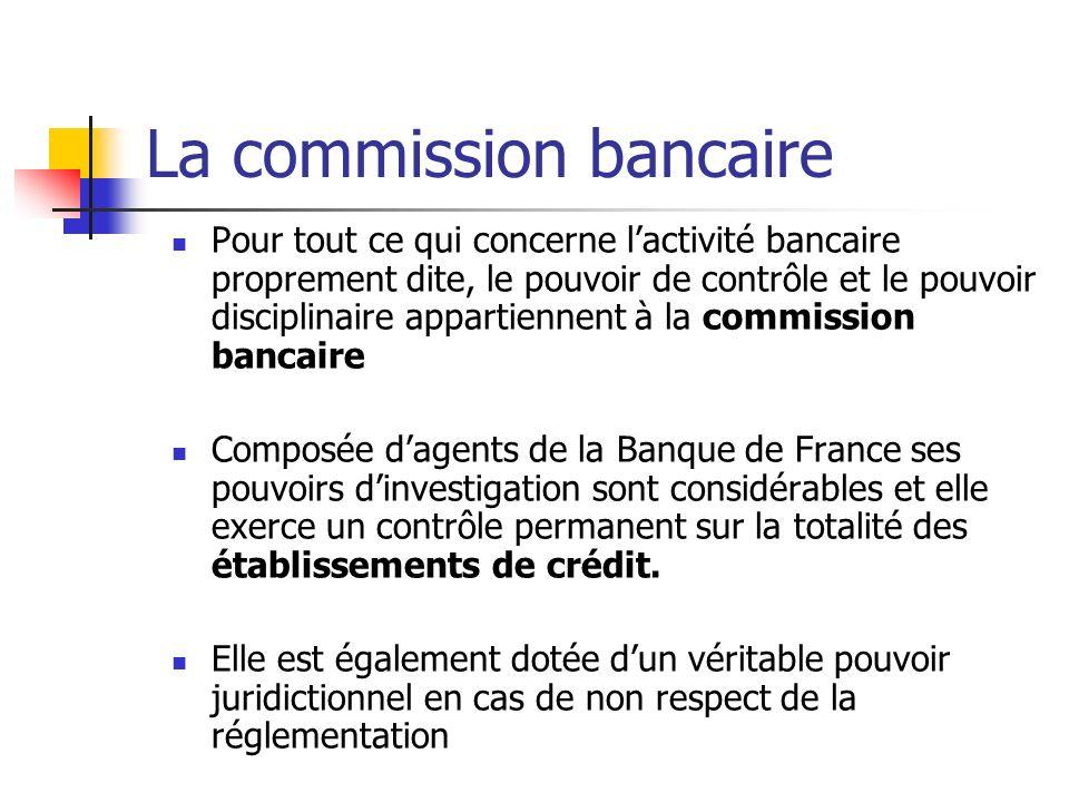 La commission bancaire