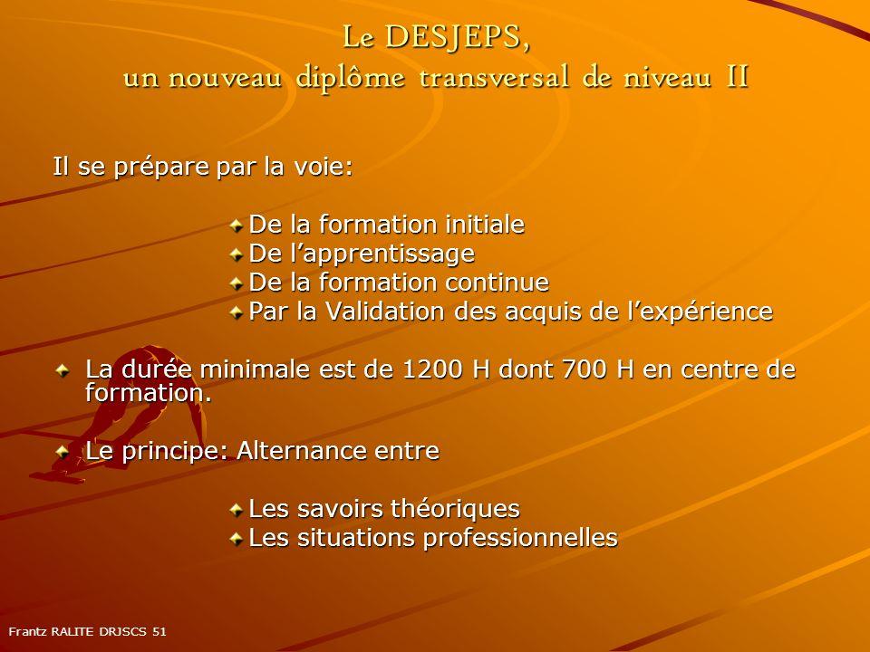 Le DESJEPS, un nouveau diplôme transversal de niveau II