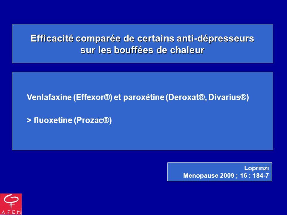 Efficacité comparée de certains anti-dépresseurs