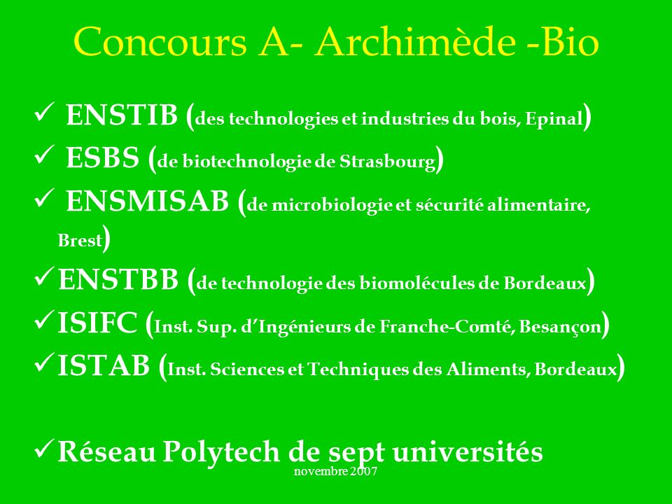 Concours A- Archimède -Bio