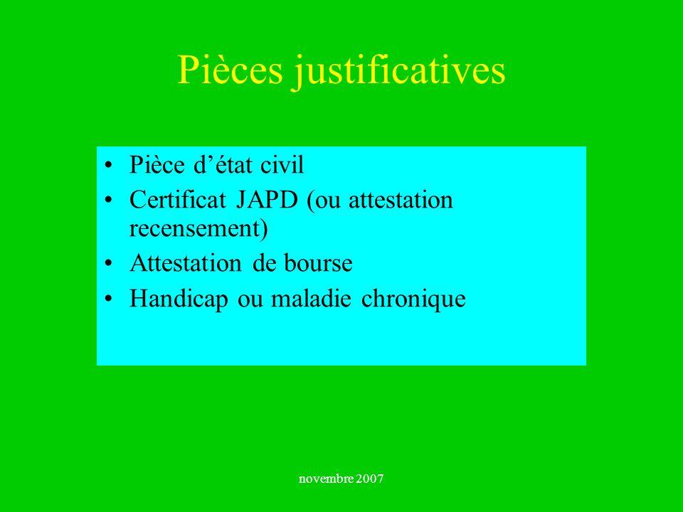 Pièces justificatives