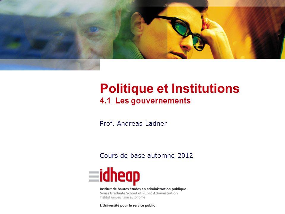 Prof. Andreas Ladner Cours de base automne 2012