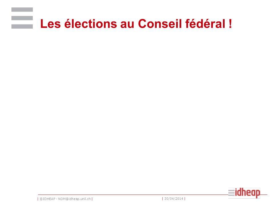 Les élections au Conseil fédéral !