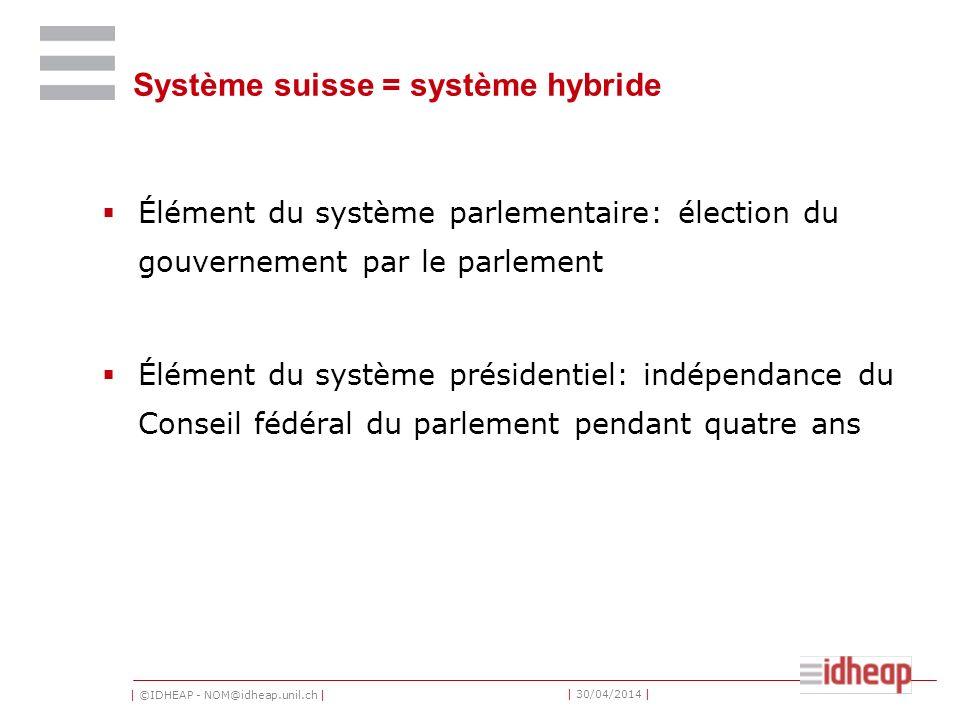 Système suisse = système hybride