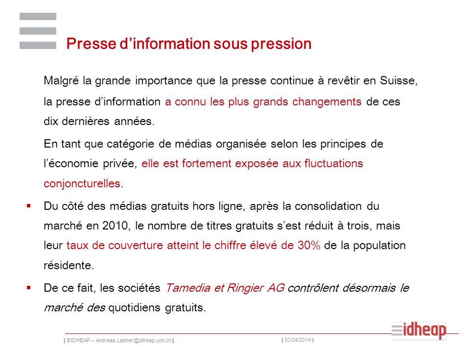 Presse d'information sous pression