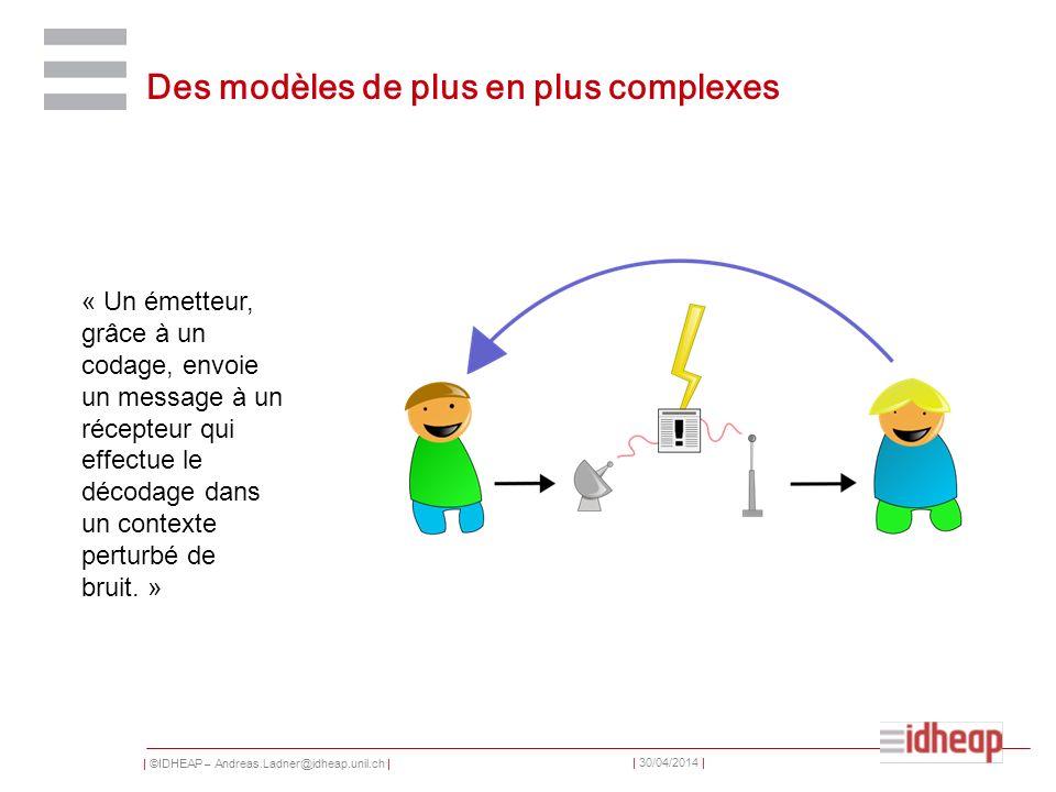 Des modèles de plus en plus complexes