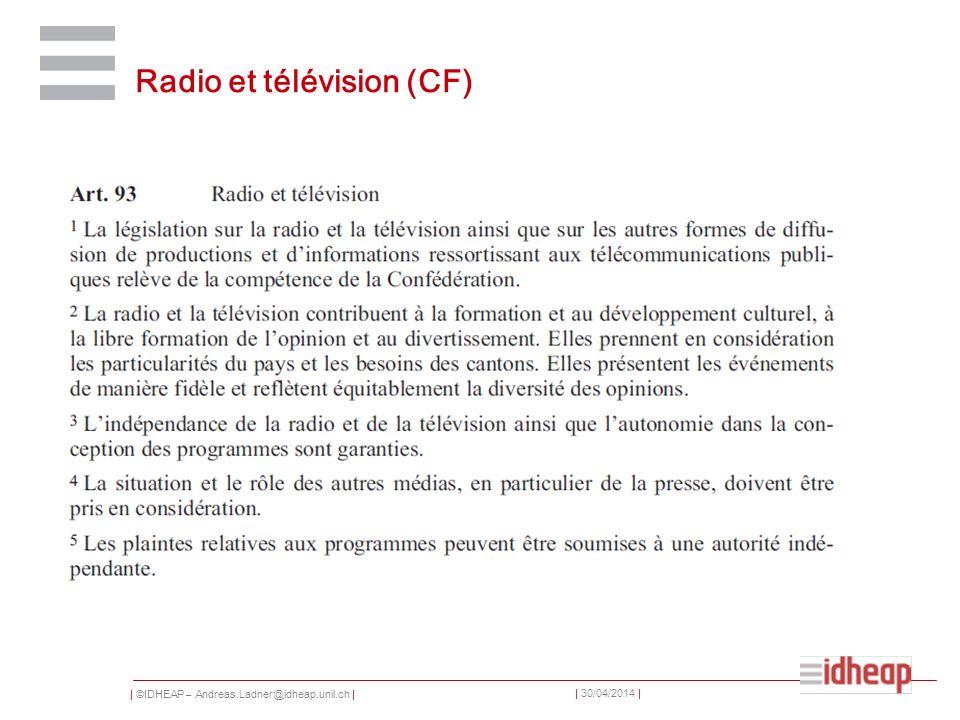 Radio et télévision (CF)