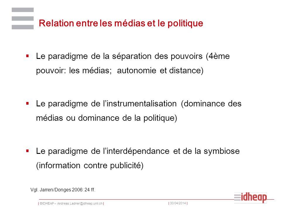Relation entre les médias et le politique