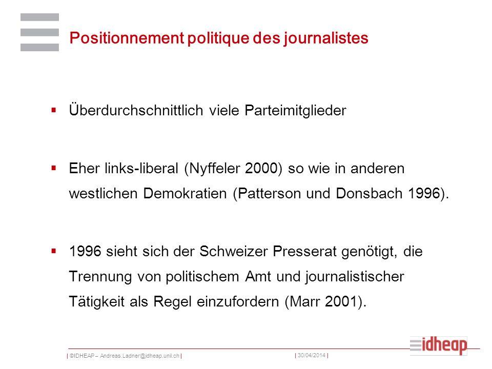 Positionnement politique des journalistes
