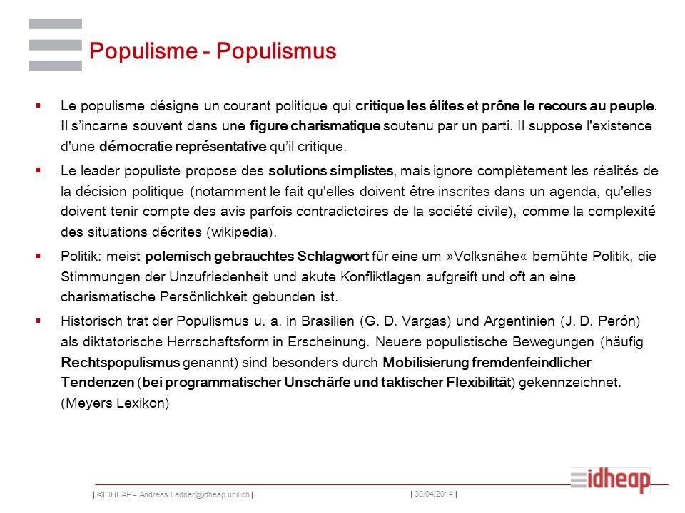 Populisme - Populismus