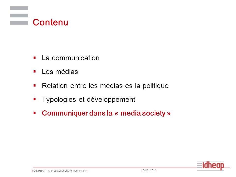 Contenu La communication Les médias