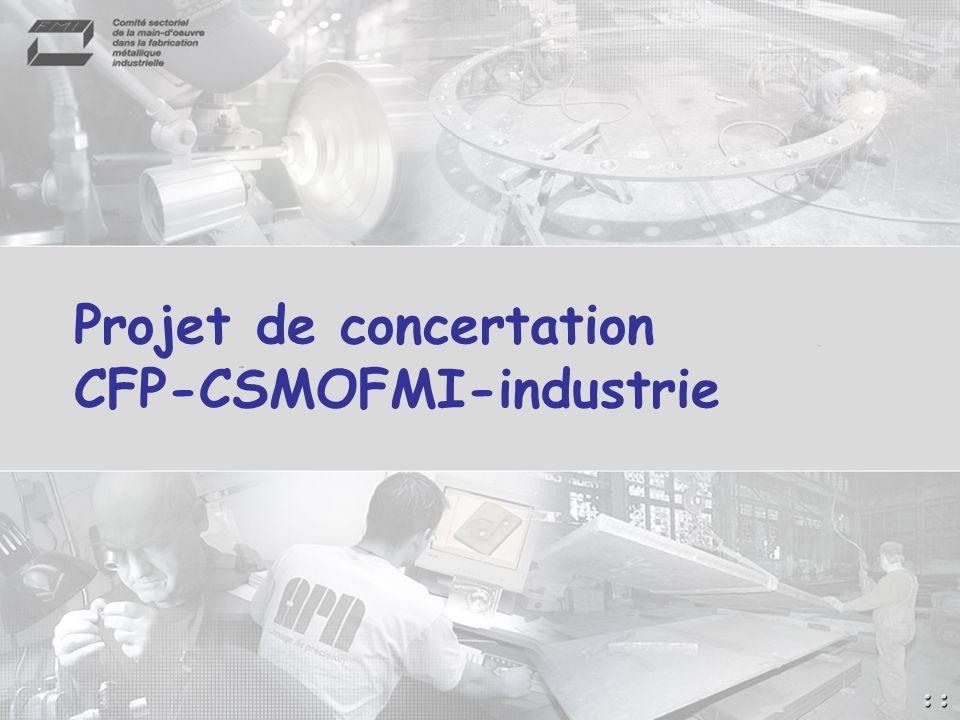 Projet de concertation CFP-CSMOFMI-industrie