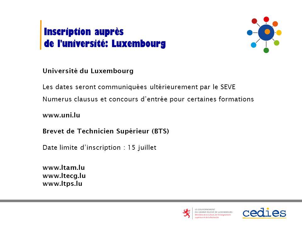 de l université: Luxembourg