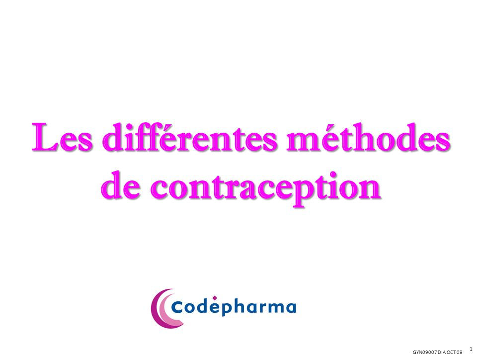 Les différentes méthodes de contraception