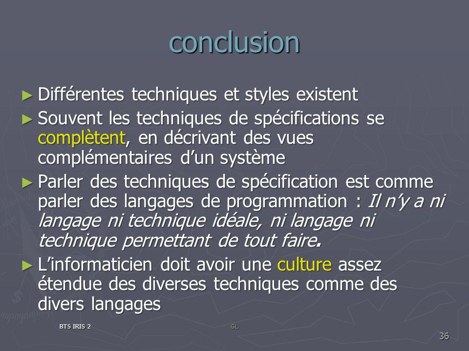 conclusion Différentes techniques et styles existent