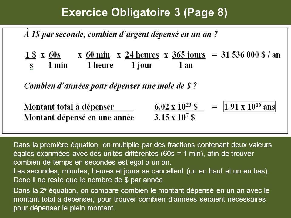 Exercice Obligatoire 3 (Page 8)