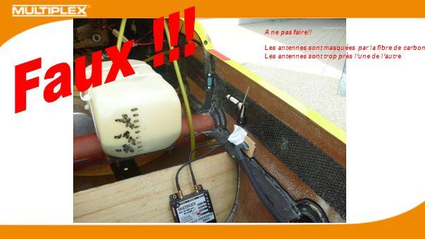 Faux !!. A ne pas faire!. Les antennes sont masquées par la fibre de carbone.