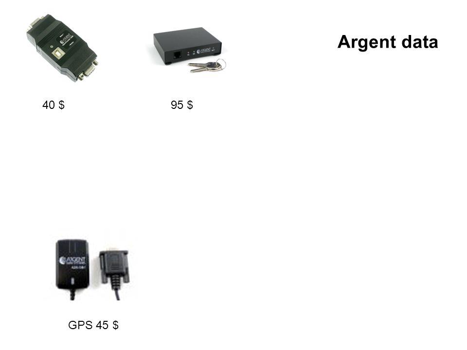 Argent data 40 $ 95 $ GPS 45 $