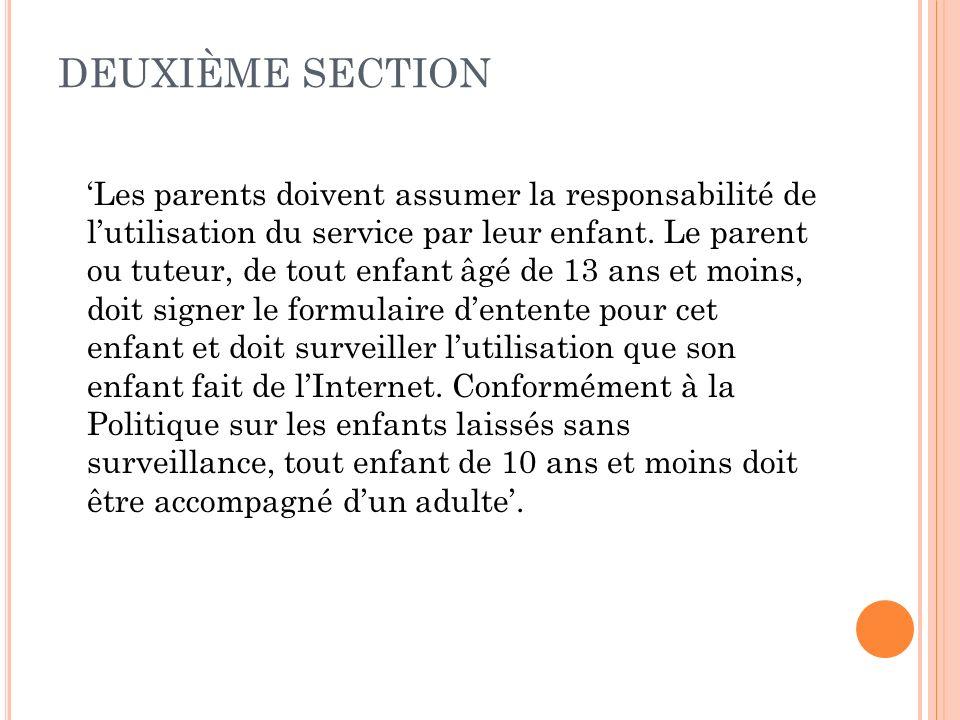 DEUXIÈME SECTION