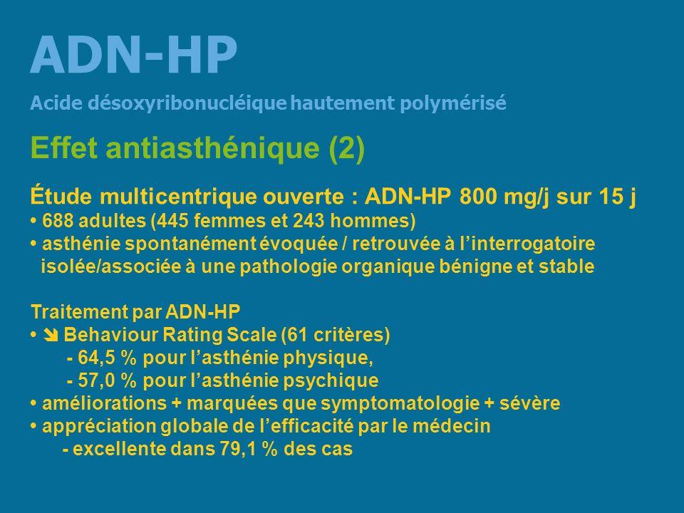 ADN-HP Effet antiasthénique (2)