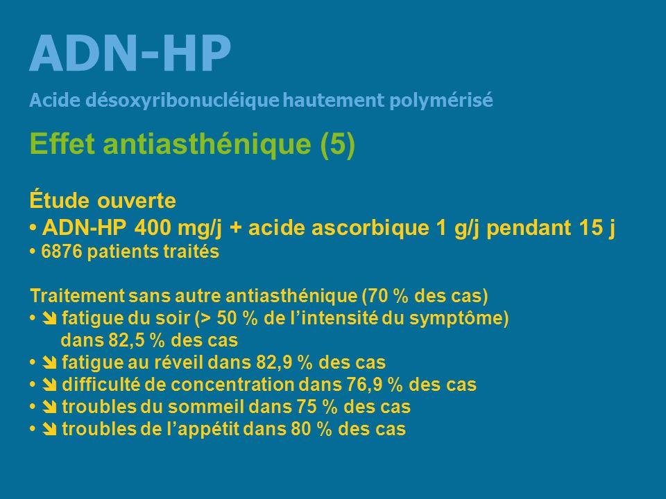 ADN-HP Effet antiasthénique (5) Étude ouverte