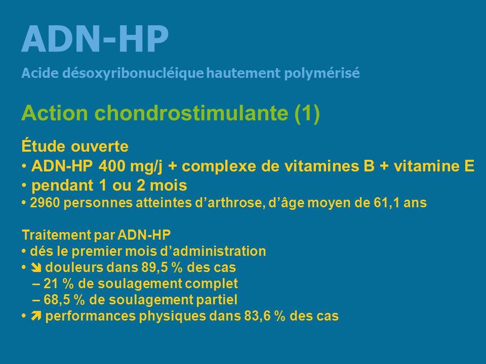 ADN-HP Action chondrostimulante (1) Étude ouverte