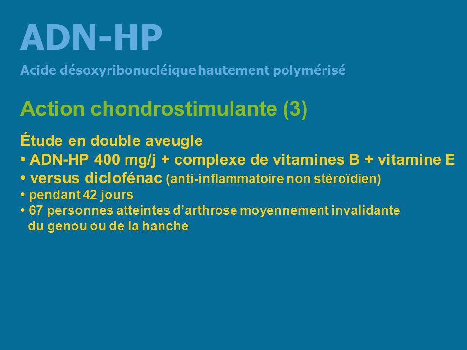 ADN-HP Action chondrostimulante (3) Étude en double aveugle