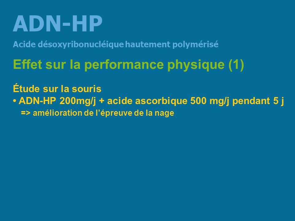 ADN-HP Effet sur la performance physique (1) Étude sur la souris