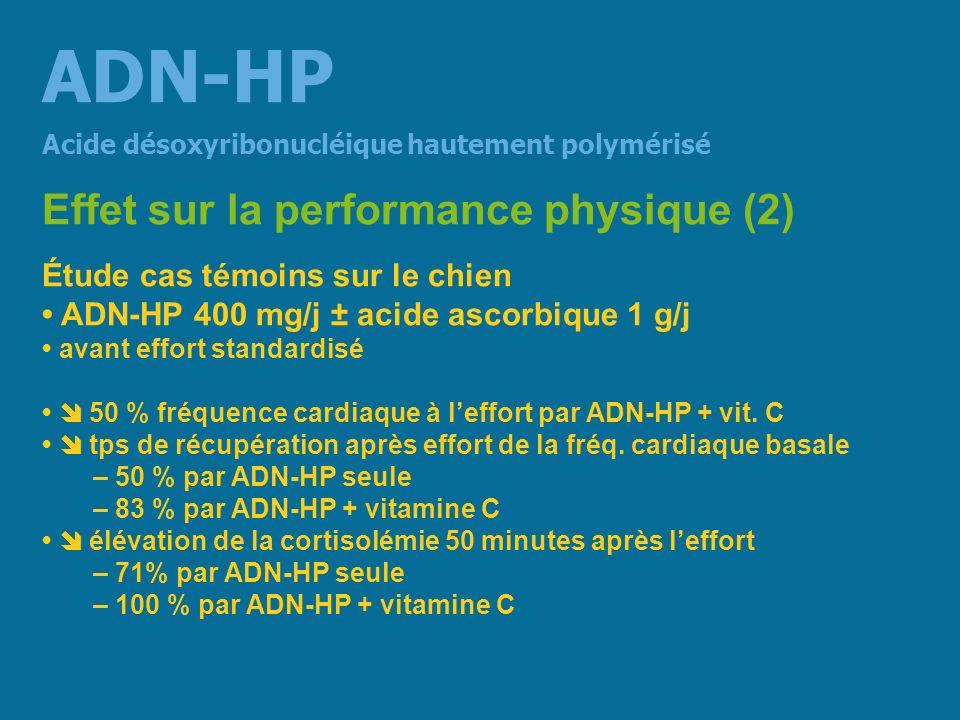 ADN-HP Effet sur la performance physique (2)