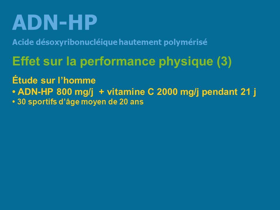 ADN-HP Effet sur la performance physique (3) Étude sur l'homme